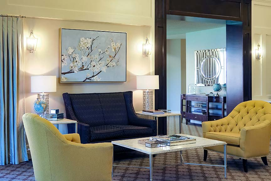 Welcome! - Our main lobby is a warm and welcoming space to greet friends and family.