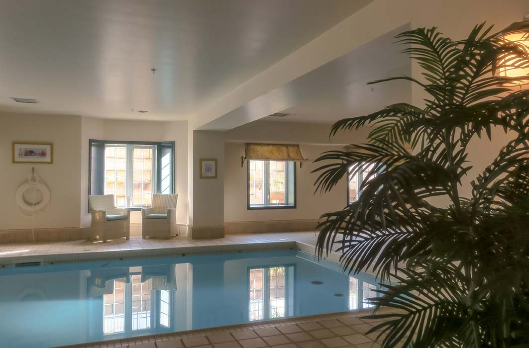 Saltwater Pool - Always heated to the ideal temperature – and saltwater won't dry out your skin the way chlorine does. Plenty of room around the pool to relax in a chaise lounge, too!